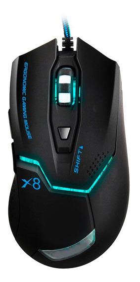 Mouse Gamer Usb Óptico 2400 Dpi 6 Botões Com Cabo Reforçado