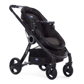 Carrinho Urban Plus + Cadeira Auto Fix Fast Black Chicco