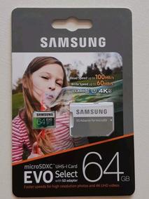 3x Micro Sd Samsung Evo Select 64gb Classe 10, 3ª Geração