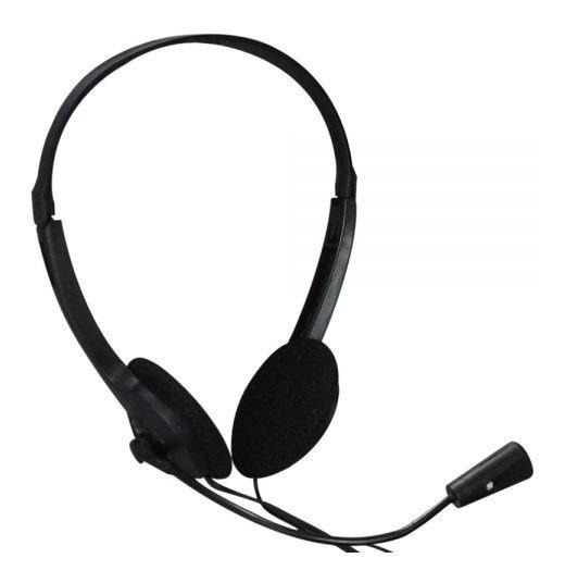 Headset Preto Estereo P2 X-cell