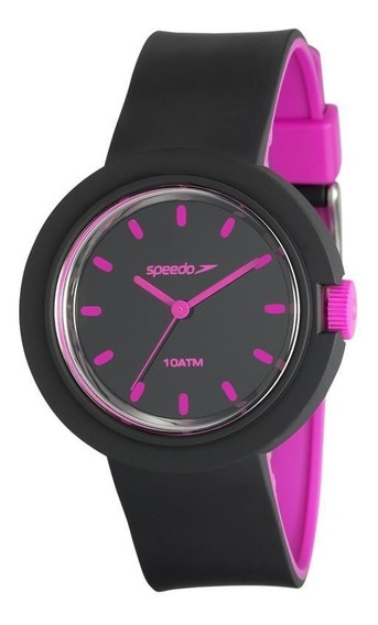 Relógio Feminino Mondaine 80585l0evnp3 Analógico Preto/rosa