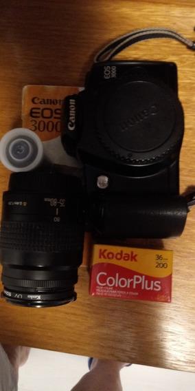 Câmera Canon Eos 3000 Com Lente 35-80