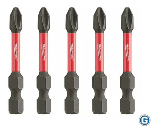 5 Puntas Ph2 X 50mm Alto Impacto Milwaukee 48-32-4602 H 1/4