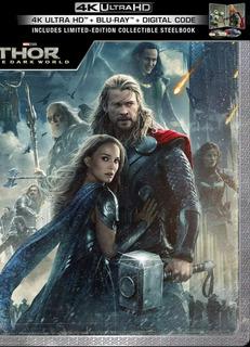 Thor Un Mundo Obscuro Steelbook Blu-ray 4k + Blu-ray