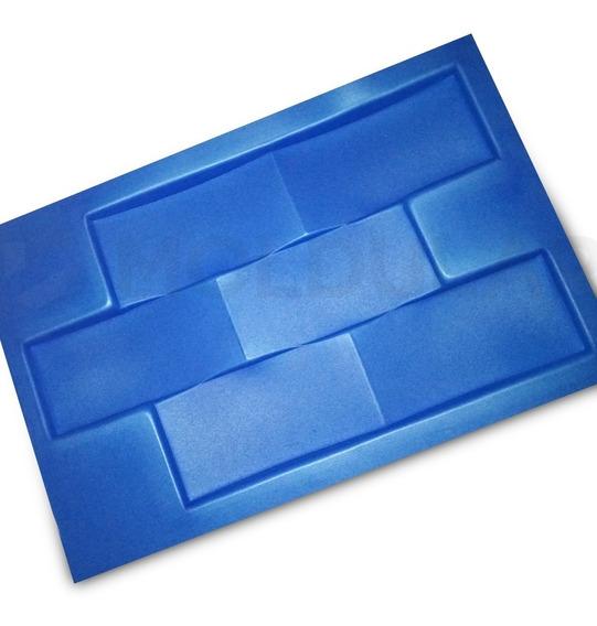 Forma Para Gesso 3d - Tijolinho Concavo Tamanho 22 X 37,5cm