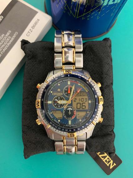 Relógio Citizen Promaster Navisurf C320 World Time Azul