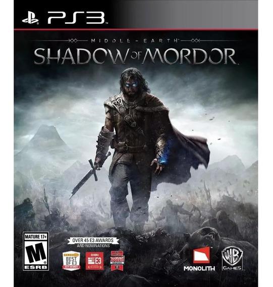 Shadow Of Mordor Inglês Ps3