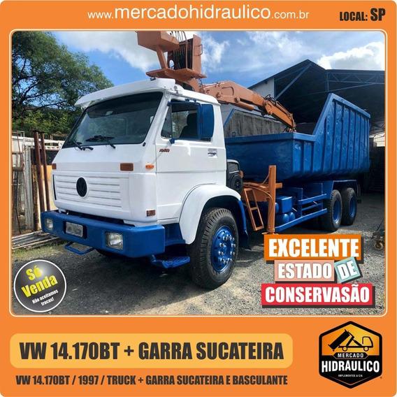 Vw 14.170bt / 1997 - Garra Sucateira E Basculante
