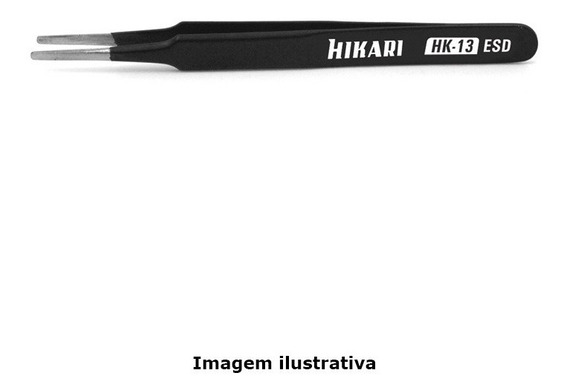 Pinça Metal Anti-estatica Comprimento 120mm Ref. Hk-13 Esd Hikari 21j665