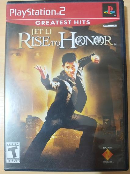 Jet Li Rise To Honor Ps2 Original Caixa Manual Cib