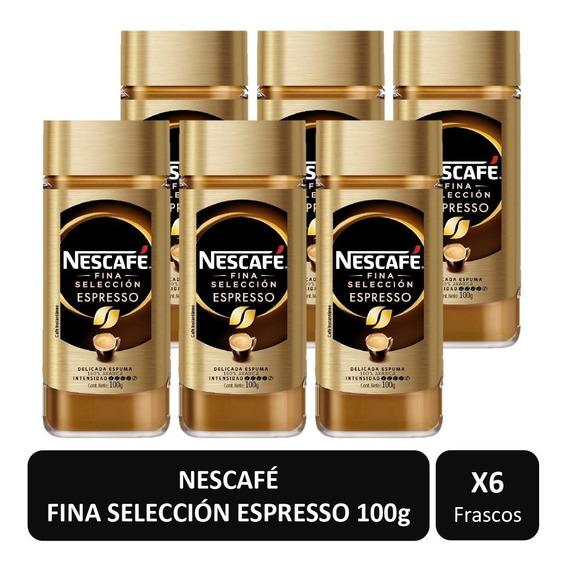 Café Nescafé Espresso Fina Selección Frasco 100g X6