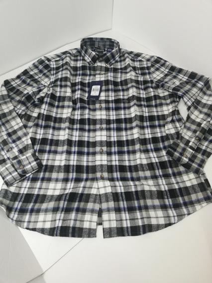 Camisa Hombre Chaps Talla Grande Algodón