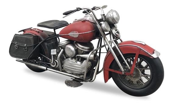 Moto Chopera Roja Harley Miniatura Coleccionable Coleccion