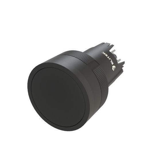 Botão Pulsador Preto - Kit Com 20 Peças