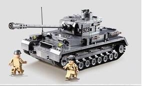 Quebra Cabeça Tanque Guerra Tipo Leg0 Tank War - 1193 Peças