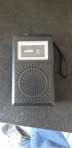 Radinho Antigo De Pilhas Aiko 6x 620 Funcionando Raridade