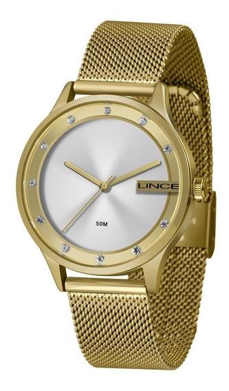 Relógio Lince Feminino Dourado Esteira Lrg4623 S1kx 670819