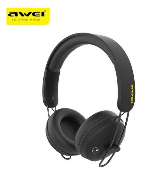 Fone Headphone Awei Bluetooth Touch + Cabo Usb A800