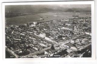 Foto Postal Colombo 60 Santos Panorama Do Porto