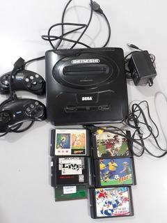 Consola Sega Genesis 2. Mas 7 Juegos Y 2 Joystick 10 Puntos.