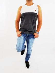 Calça Jeans Masculina Skinny Plus Size Rasgada Do 36 Ao 62