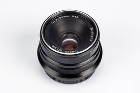 Lente 7artisans 25mm F1.8 + Parassol De Metal Para Fujifilm