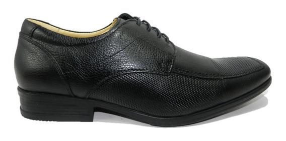 Zapato Stork Man De Vestir Hombre Cuero Negro 9004