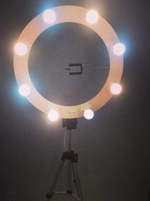 Ringlight De 12 Bocais C/tripe E Lâmpadas