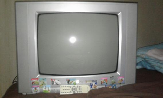 Tv Lg 21 Polegadas De Tubo 2 Entradas (branca E Amarela)