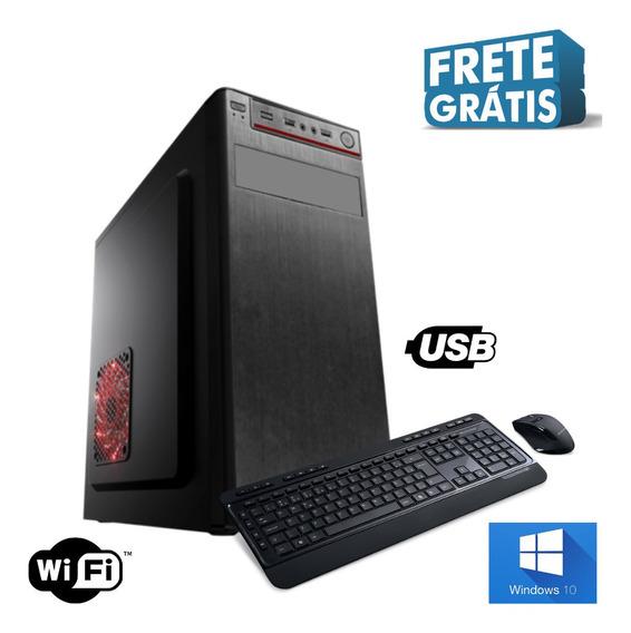 Pc Desktop Dual Core 4gb Ssd 120gb Win10 Teclado&mouse Frete
