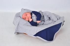 Kit Saída De Maternidade 4 Peças Príncipe Luck - Menino