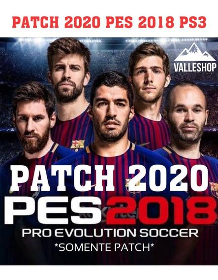 Patch 2020 Para Pes 2018 Ps3 Não Precisa Atualizaçao (dados)