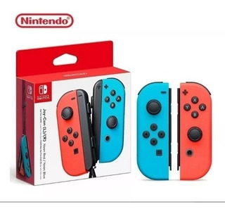 Controles Nintendo Switch Joy-con Neon Red / Blue Original