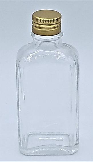 20 Garrafinha De Bolso De Vidro 50ml Whisky Porta Bebida