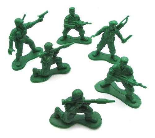 Set 6 Soldados De Guerra Plastico Excelente 2da Guerra 7 Cm