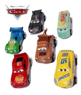 Kit 6 Carrinhos Relâmpago Mcqueen 3 Disney Carros Brinquedos