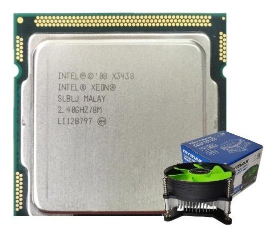 Processador Xeon X3430 = I7 870 + Cooler Dissipador Lga 1156