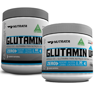 2x Glutamina Glutamin Up Nutrata 150g + 300g - Promoção