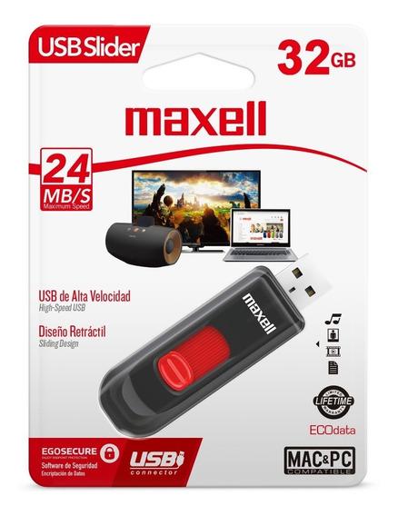 Maxell Memoria Usb Slider 32gb