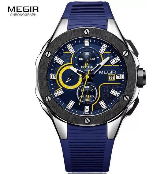 Relógio Masculino Top Esportivo Militar Megir 2053 Nf-e