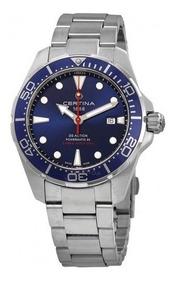Relógio Masculino Suíço Certina Action Diver Azul/prata/aço