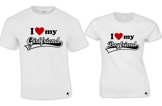 Playeras Pareja Boyfriend - Girlfriend Tigre Texano Designs
