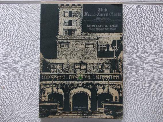 5553- Balance Año 1986 Club Ferrocarril Oeste (r4)