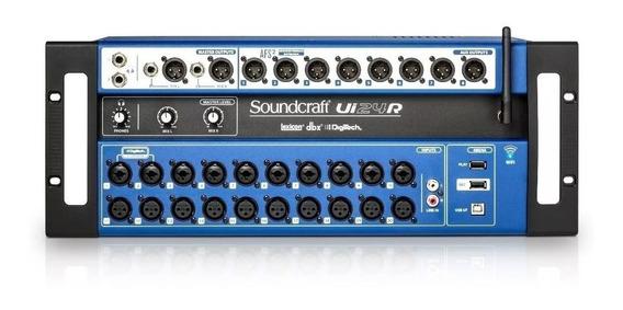 Mesa De Som Digital Soundcraft Ui24r Usb 24 Canais Wifi + Nf