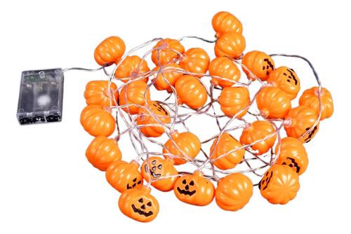 Imagem 1 de 7 de Luzes Halloween Levou Bateria Corda Abóbora Fantasma Lantern