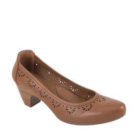 Zapatillas Confort Caladas Tacon Cuadrado Para Señora Formal