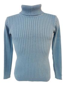 Cacharel Blusa Tricot Lã Masculina Canelada Gola Alta Cores