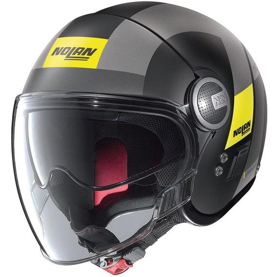 Capacete Nolan N21 Spheroid Amarelo Viseira Solar + Touca Balaclava (capacete Aberto)