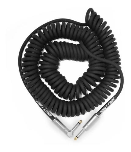 Bullet Cable Enrulado 9 Metros Plug Plug Angular Recto