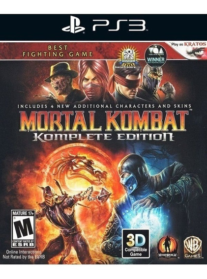 Mortal Kombat 9 Komplete Edition Play3 Pt Br Top